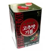영미 중화고추맛기름 15L /캔